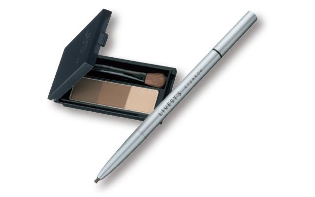 (右)アルソアのリベスト アイブロウA 550、(左)カネボウ化粧品のケイト デザイニングアイブロウ3D EX-5