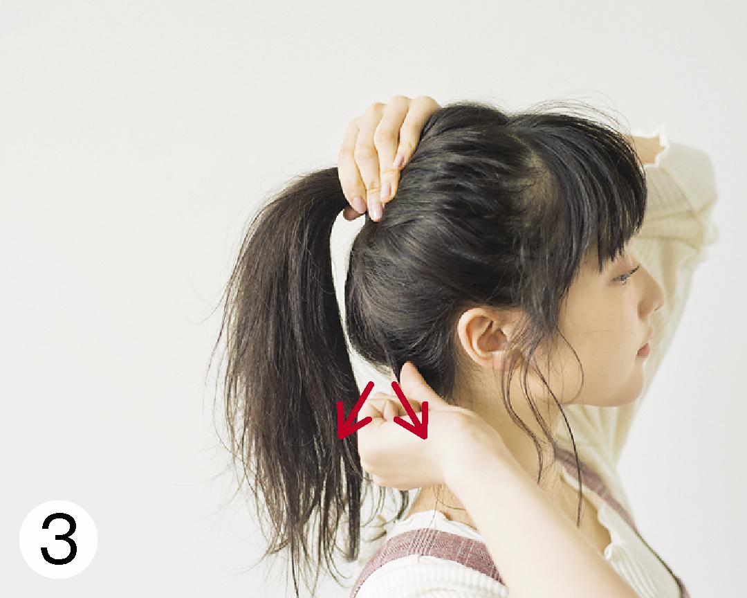 ロングヘアの#彼女感なまとめ髪♡ ポニテ×後れ毛で簡単アレンジ!_1_3-3
