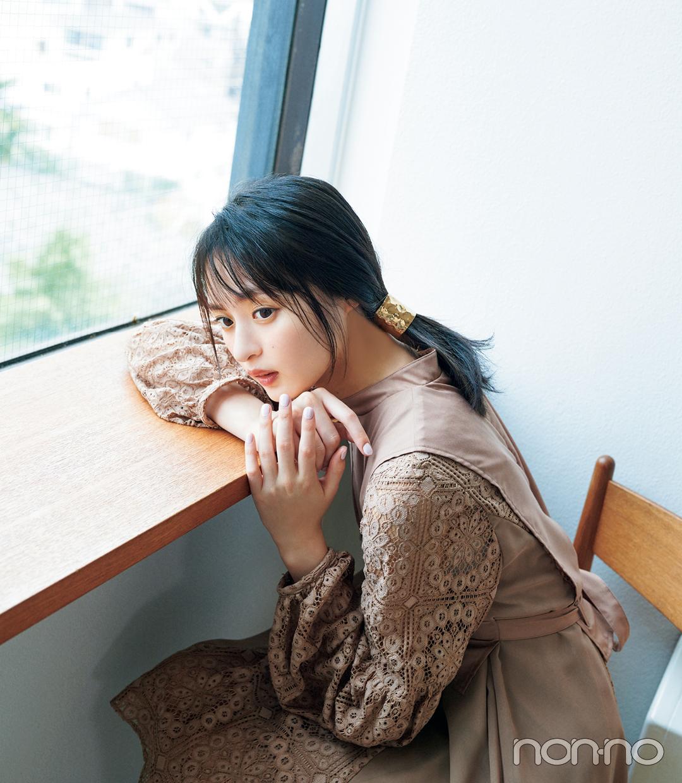 遠藤さくらのヘアアクセ&アレンジ図鑑のモデルカット3-2