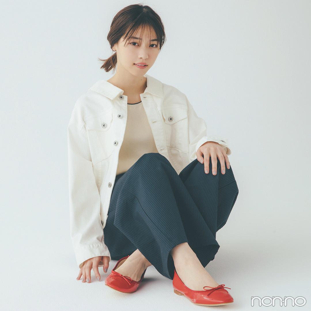 新木優子はパープルのカーデをウエストイン! スタイルアップもお手のもの【毎日コーデ】_1_2-3
