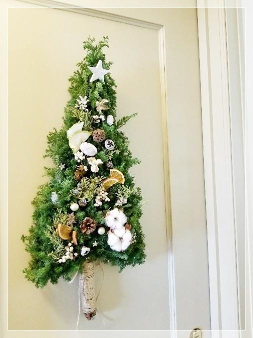 今年はクリスマスはツリー型タペストリーで♪_1_2