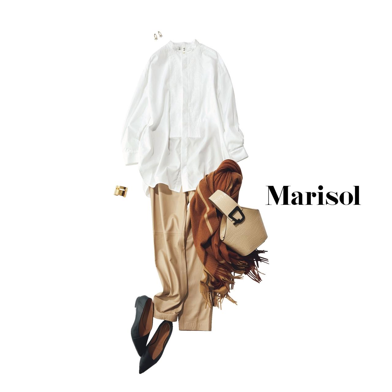 40代ファッション 白シャツ×チノパンツコーデ