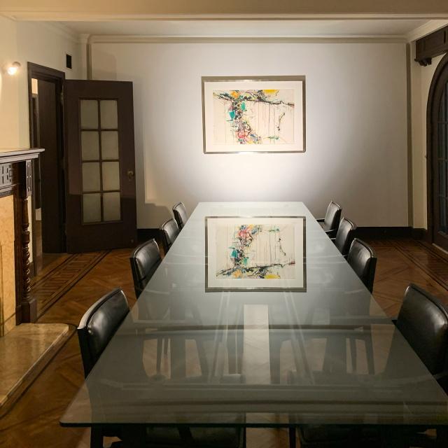 九段下の登録有形文化財『旧山口萬吉邸』にて開催中のグループ展「The Still Point – まわる世界の静止点」素晴らしい空間でじっくり作品を堪能しました。_1_3