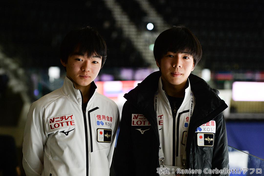 200年フィギュアスケート世界ジュニア選手権に出場した鍵山優真選手、佐藤駿選手
