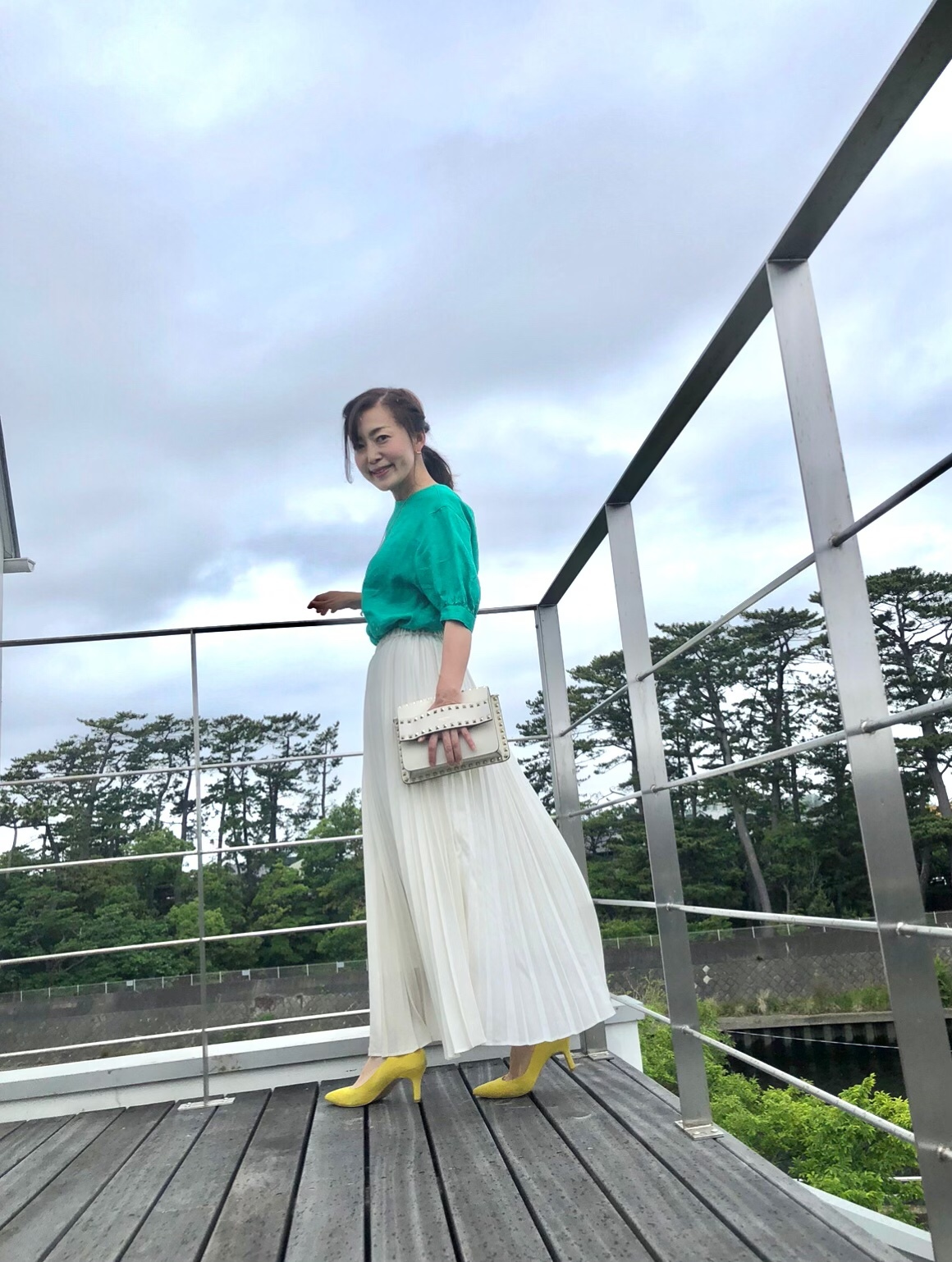薄艶プリーツスカートコーデ♪_1_1