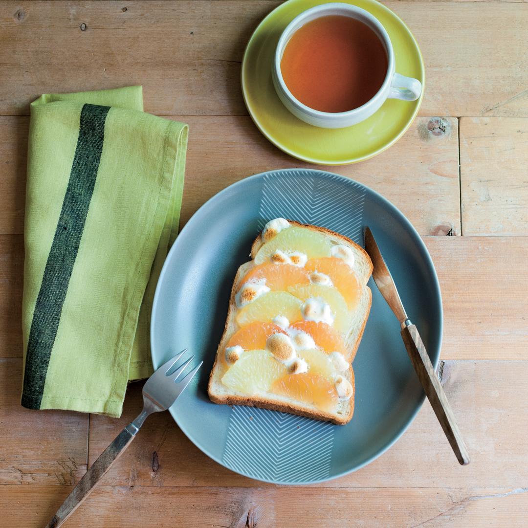 グレープフルーツのマシュマロトースト