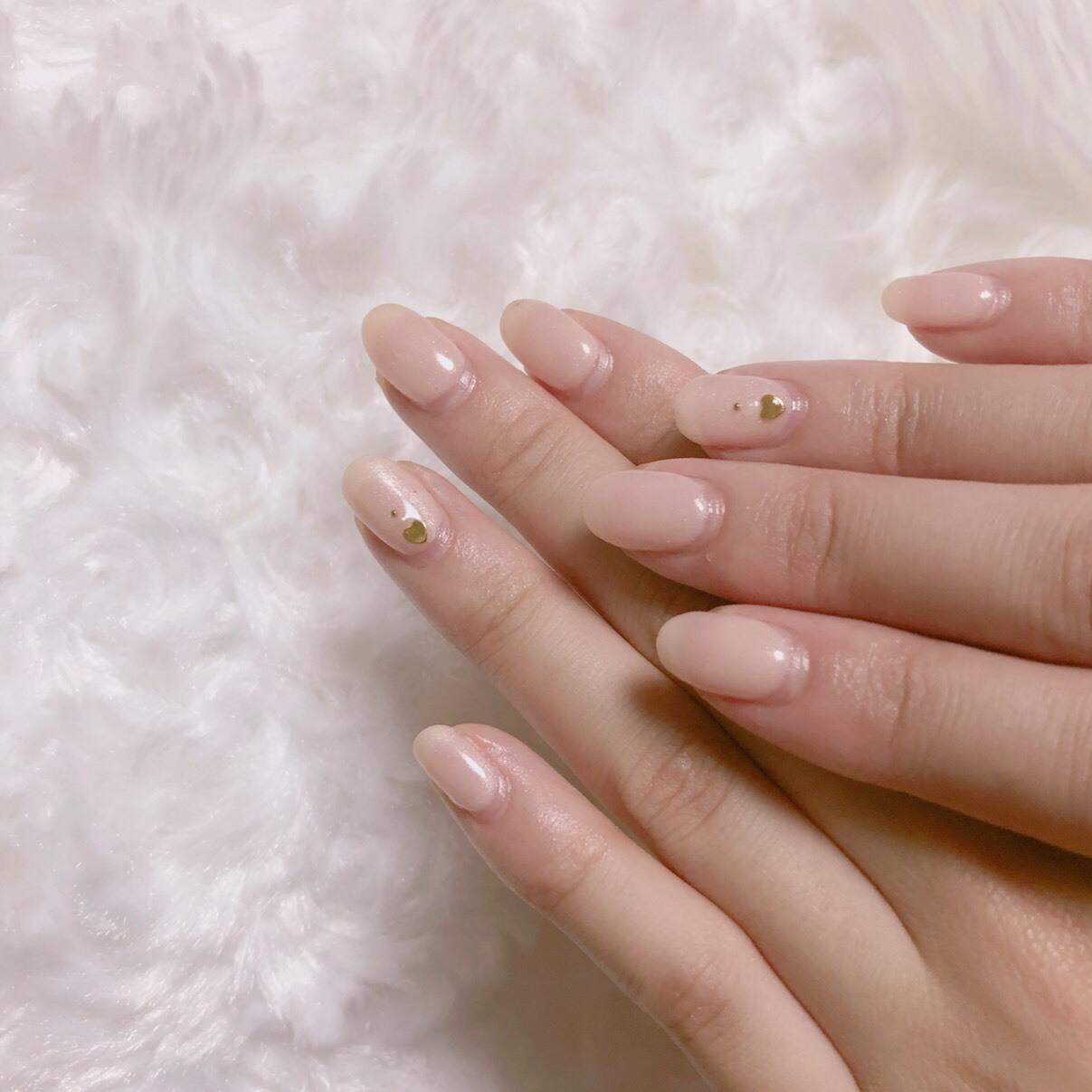 【 第110回❤︎ 】薬指のハートがポイント♡ミルキーピンクネイル*_1_3