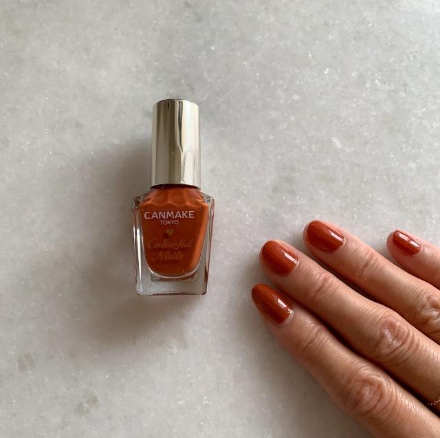 【CANMAKE新色】ブラウン寄りの焦がしオレンジネイルが気分|大人カジュアル研究部_1_1