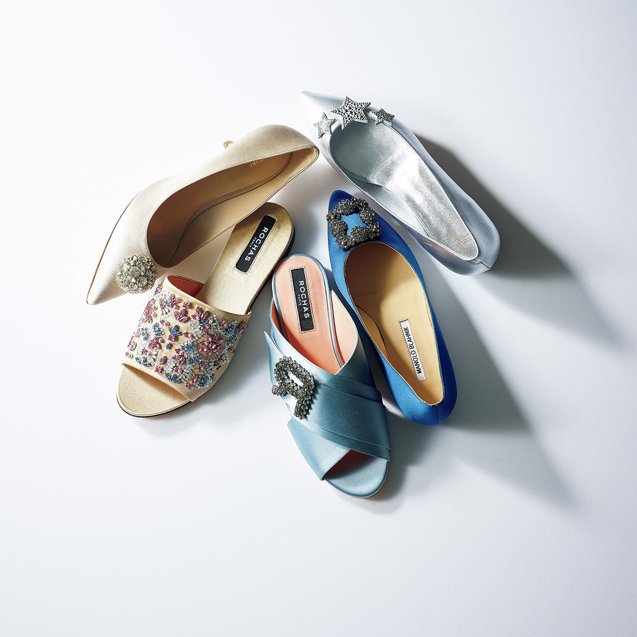 美色スエードパンプス&ビジュー靴で、春の足元印象をバージョンアップ 五選_1_1-5