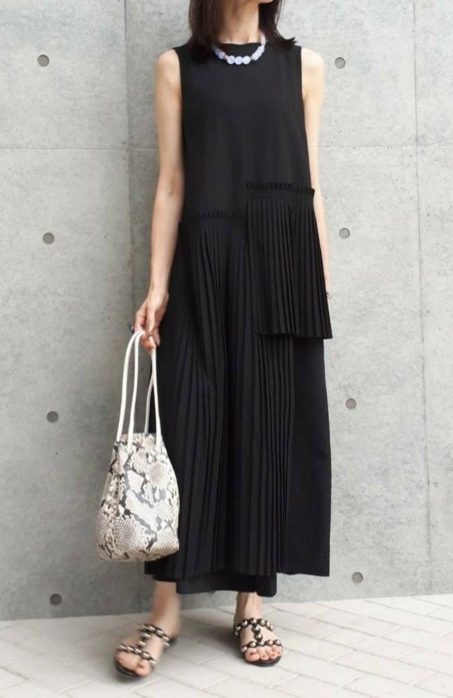 夏のブラックは素材とデザインで楽しむ_1_4-1