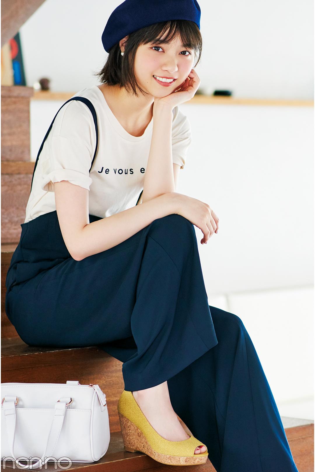 西野七瀬の夏スタイル♡ ロゴTシャツ着回しコーデ1×3!_1_3-1