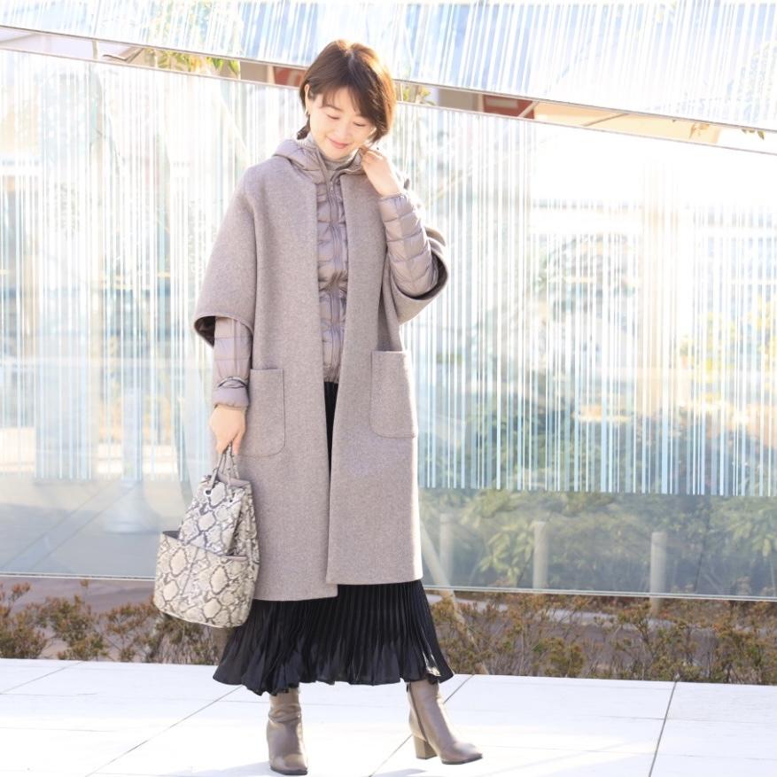 黒艶ロングスカートで私流フェミニンコーデ_1_5