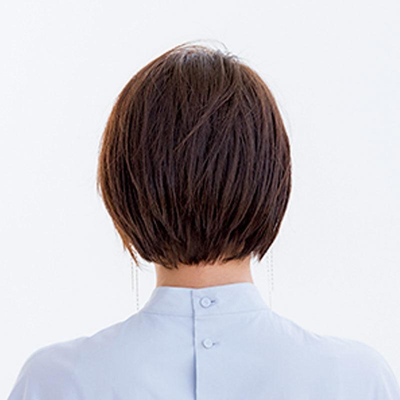 くせ毛風パーマと毛束感がしゃれ感を演出。さわやかリラックスショート【40代のショートヘア】_1_1-3