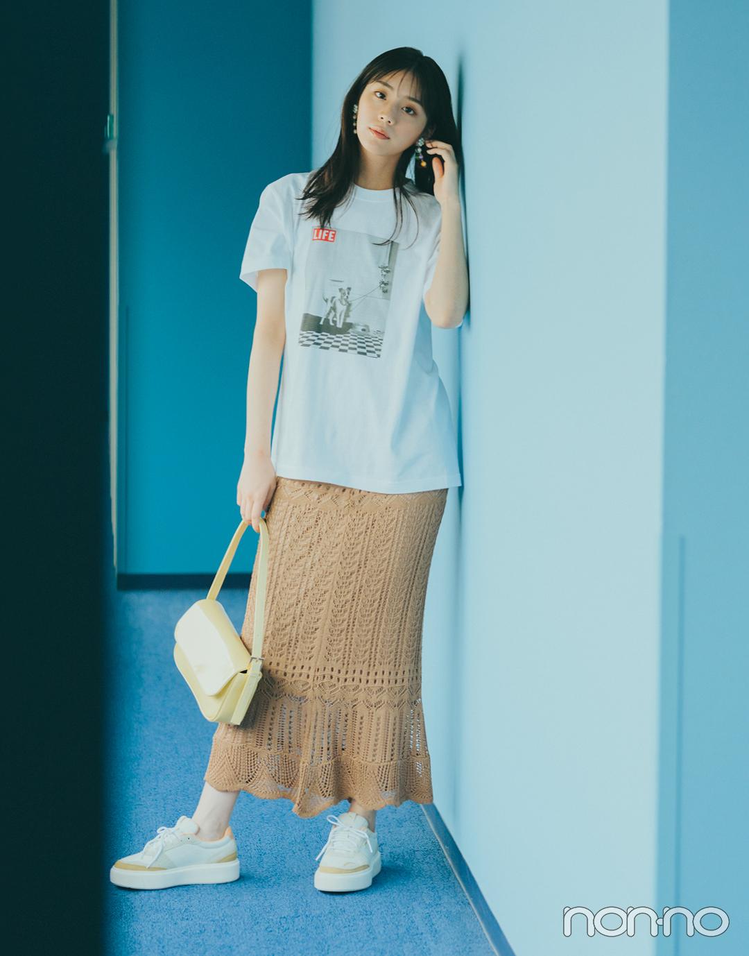 『貴島明日香』の『クロシェスカート』モデルカット4−3