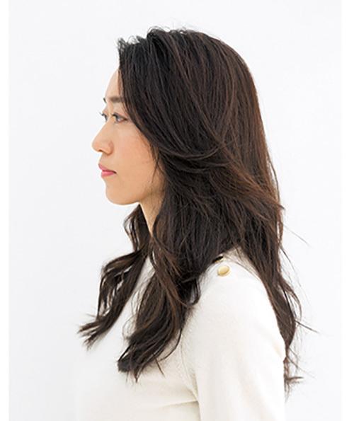 エレガントなのに色っぽい。かき上げ風前髪×ロング【40代のロングヘア】_1_2