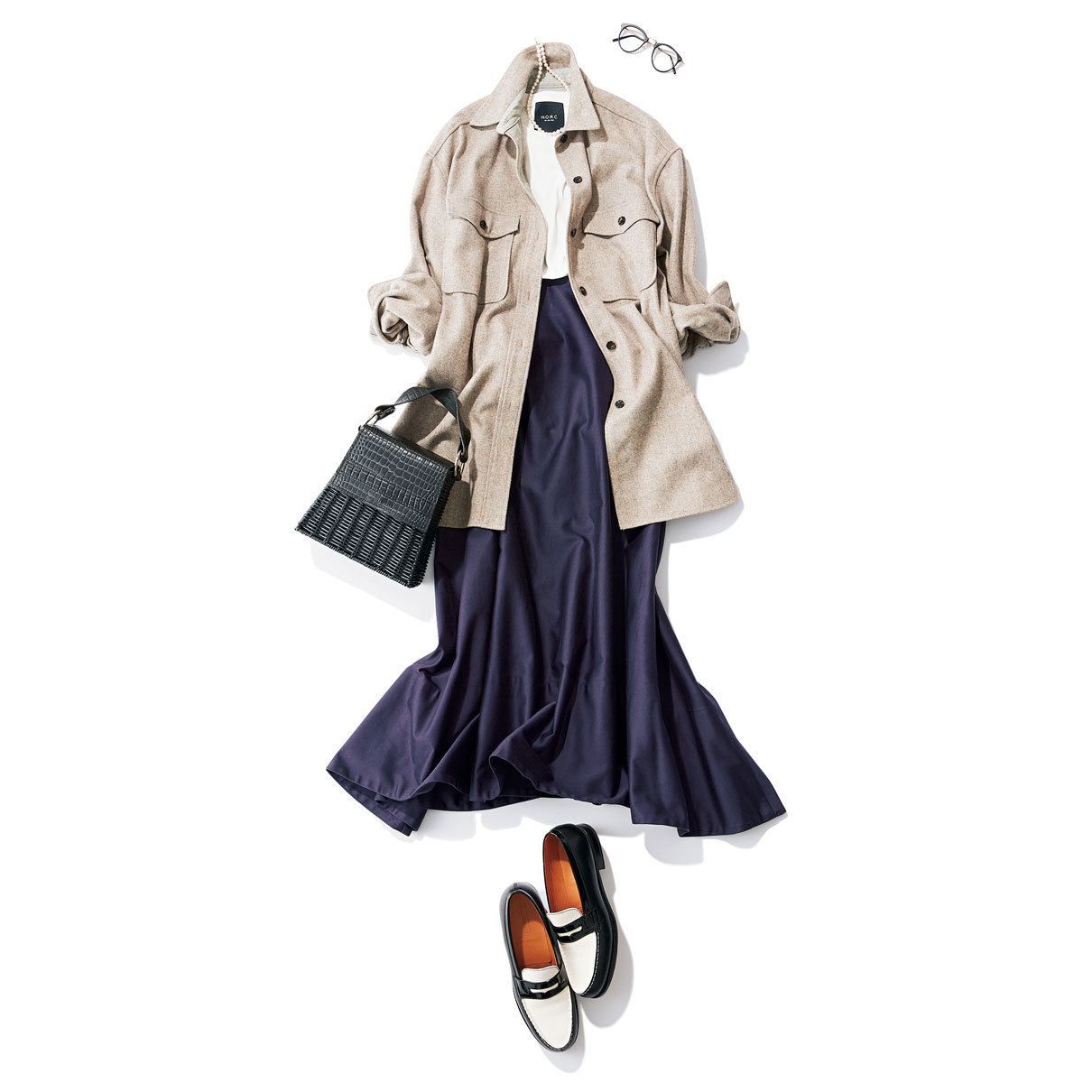 フレアスカート×CPOジャケット