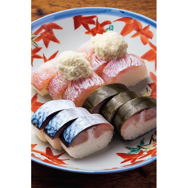 京寿司 いづ重「鯖姿寿司」「甘鯛姿寿司」