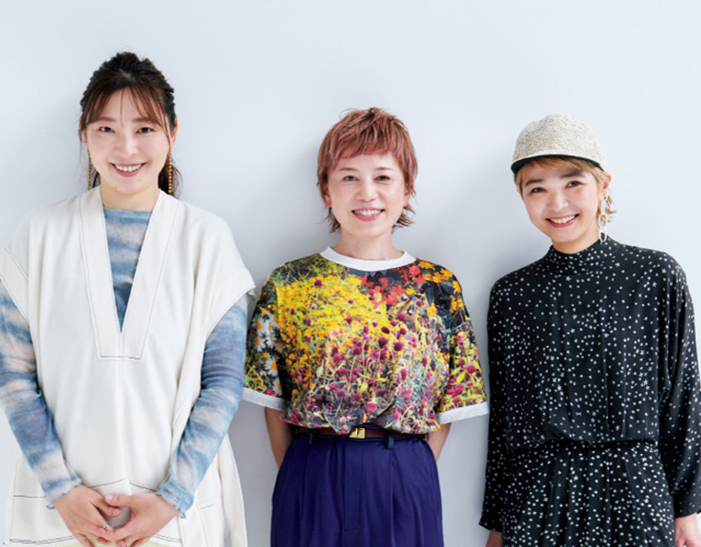 (左)PearL CHIEさん、(中)DADA CuBiC 吉村英美さん、(右)BEAUTRIUM265 前田百合子さん、