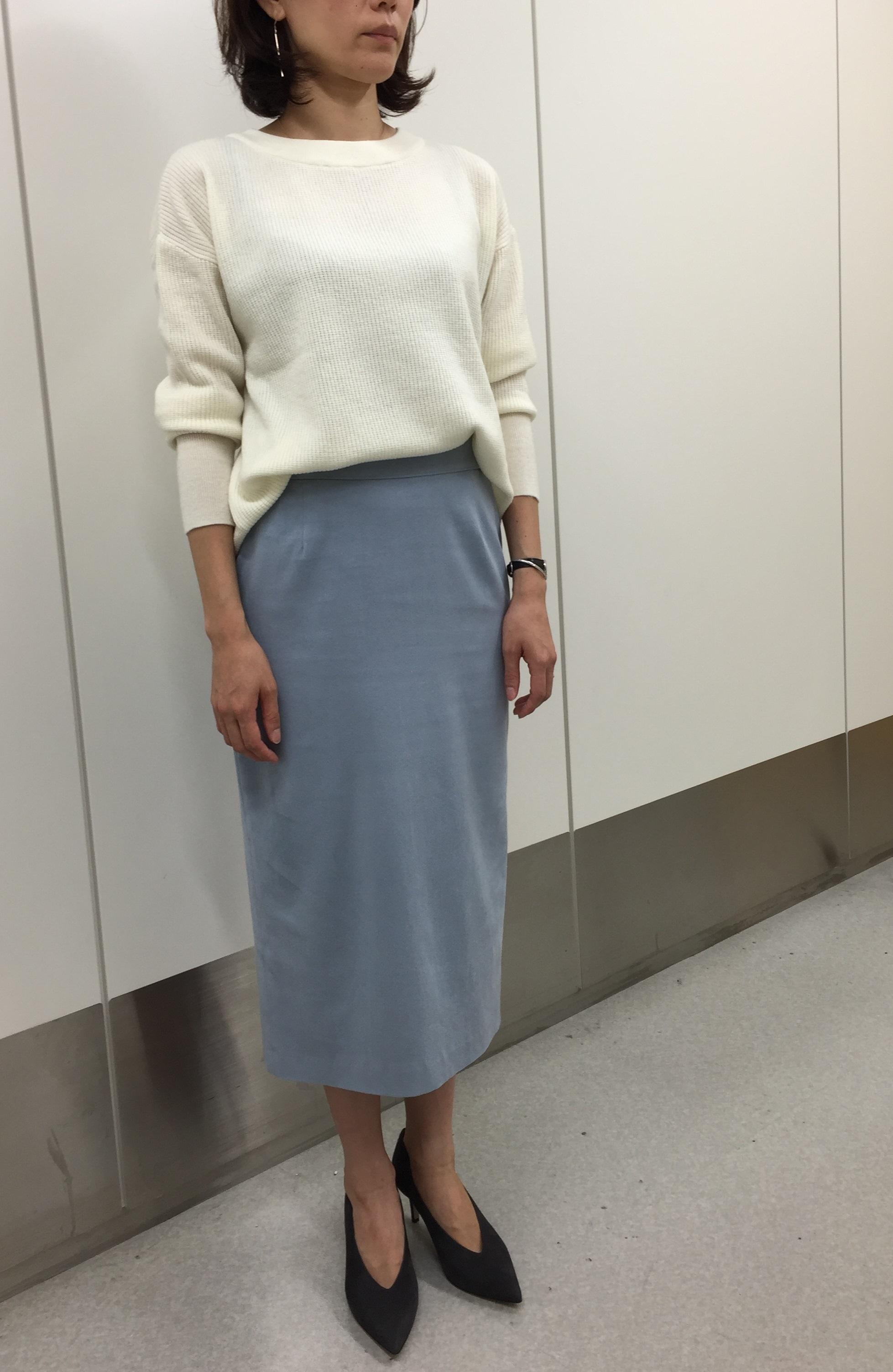先出し!10月号のM7daysのワッフルトップス&スウェードスカート【SHOP Marisol】_1_3