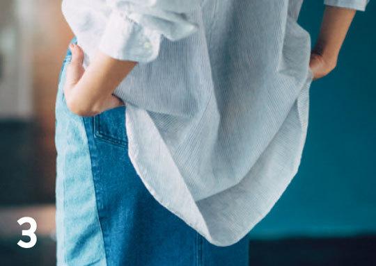 どうやるの?「フロントイン」★素敵に見えるシャツの着こなし方TIPS_1_3-1