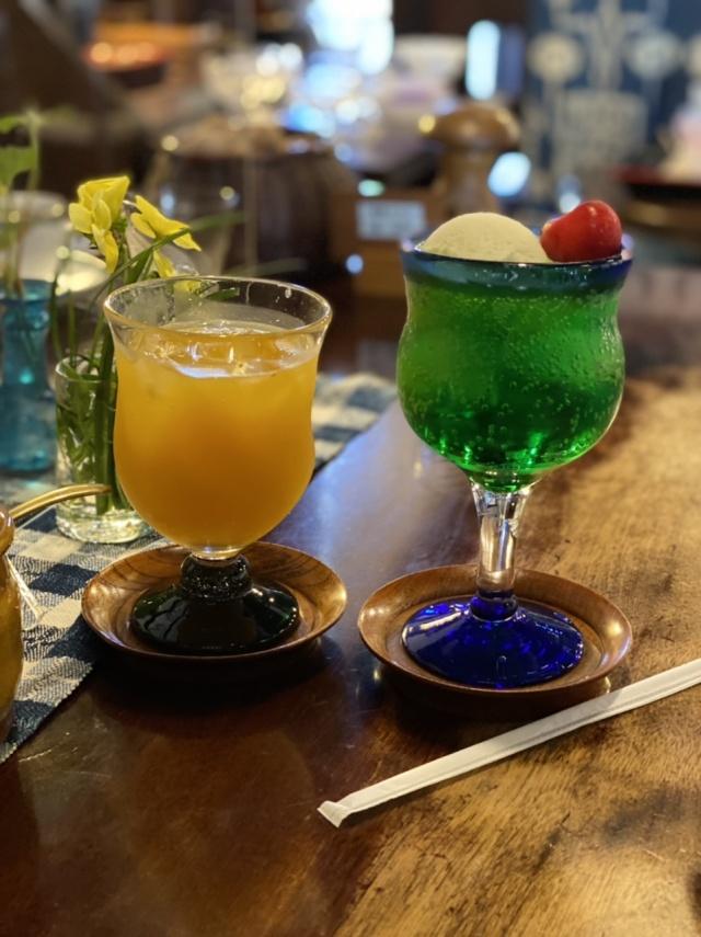 飛騨高山 観光 藍花 クリームソーダ