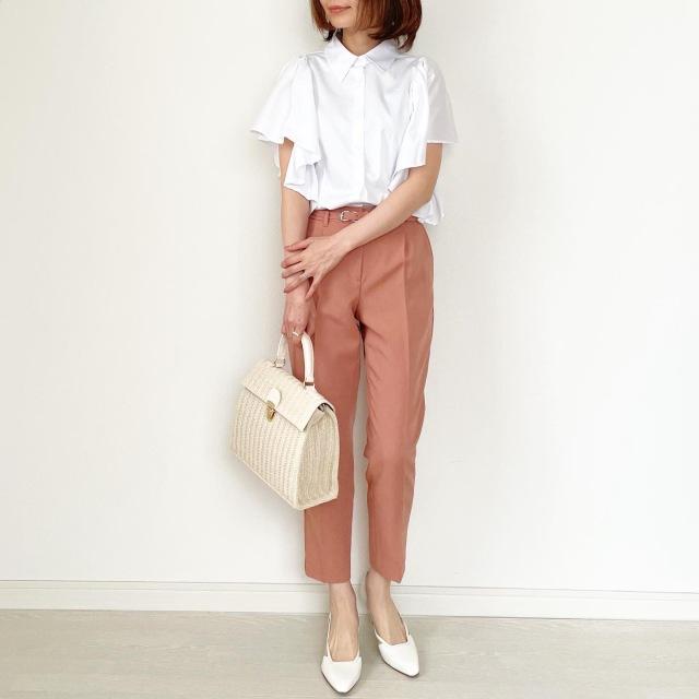 春の白シャツ4スタイル全てお見せします!【tomomiyuコーデ】_1_13