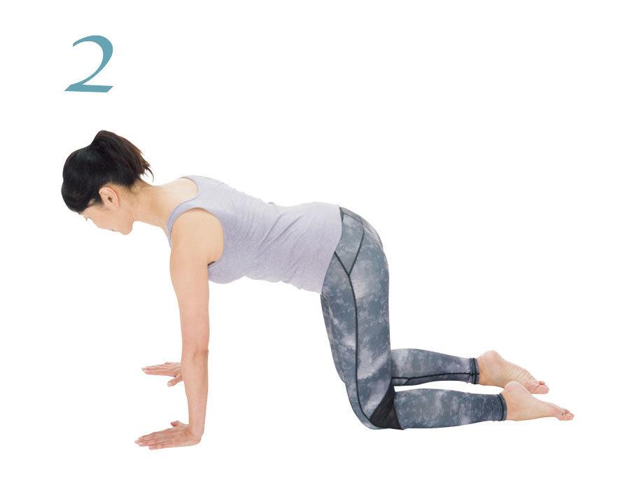 体幹と肩甲帯を別々に動かせるようにする2:肩甲骨の押し引きのやり方2
