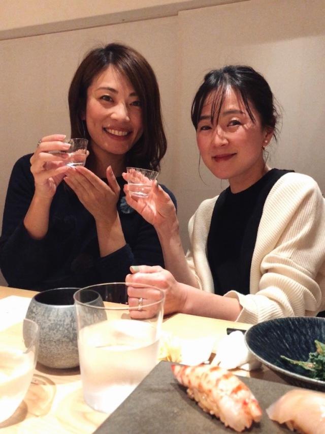 お友達と日本酒