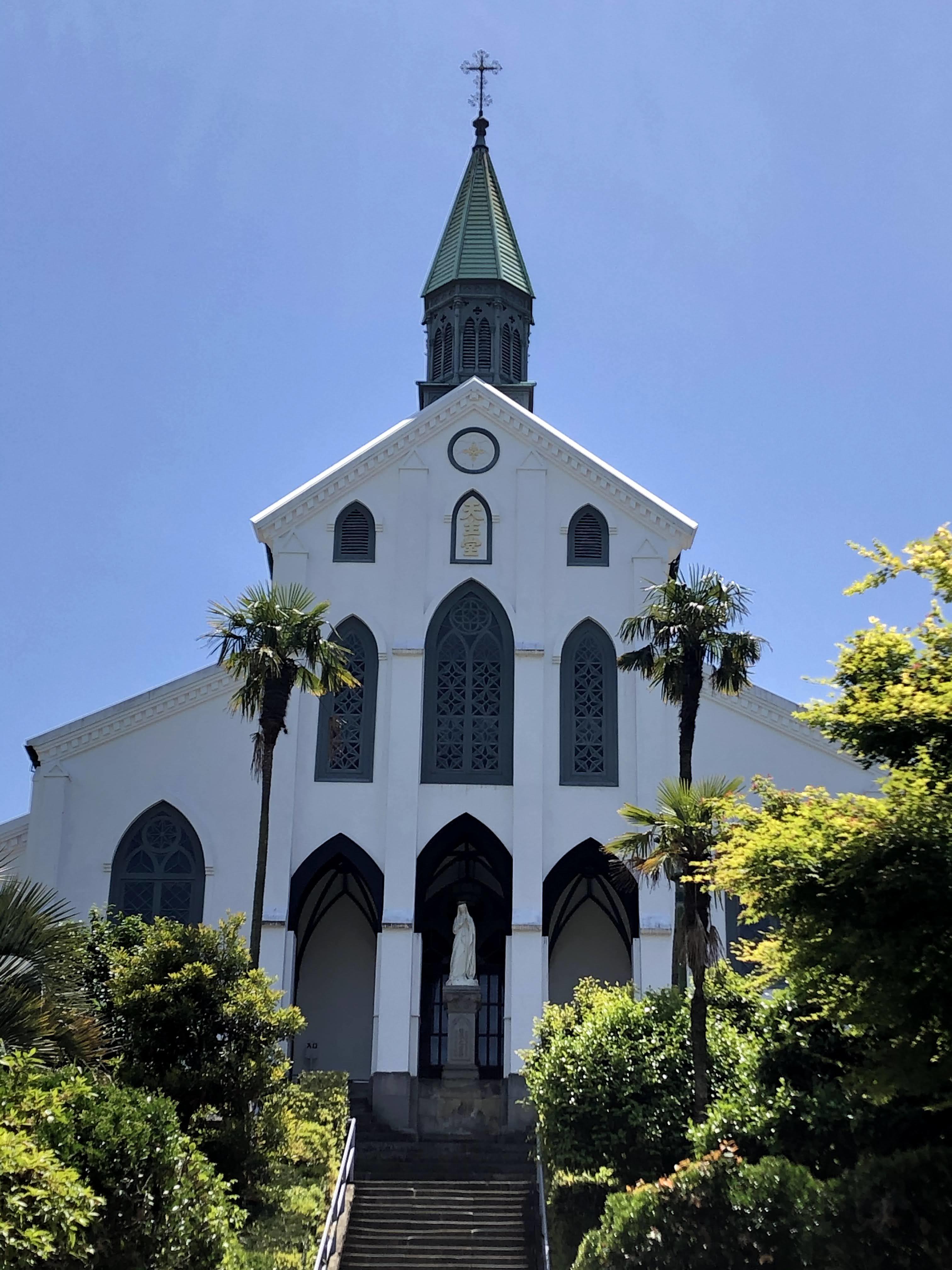 大浦天主堂。在留外国人のために作られた国内に現存する最古の教会堂