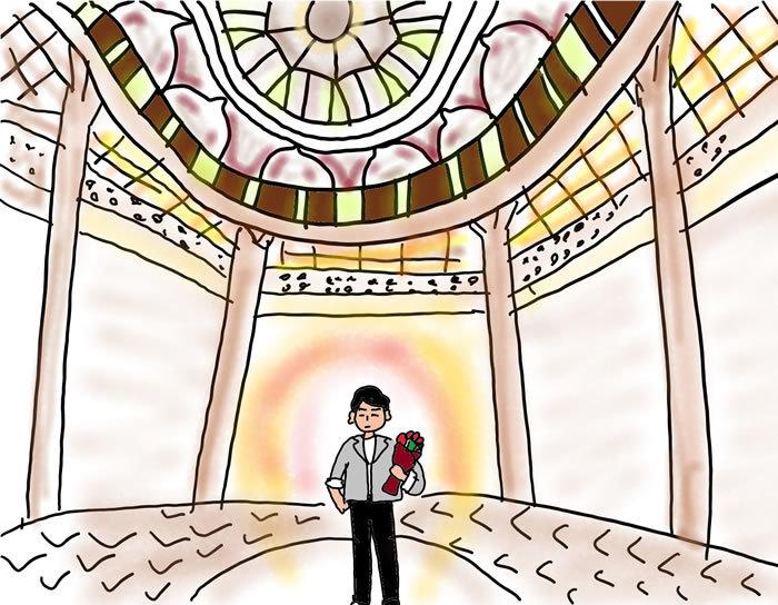 待ち合わせの東京駅で大きなバラの花束を抱えて待っていた【アラフォーケビ子の婚活記 #39】_1_1