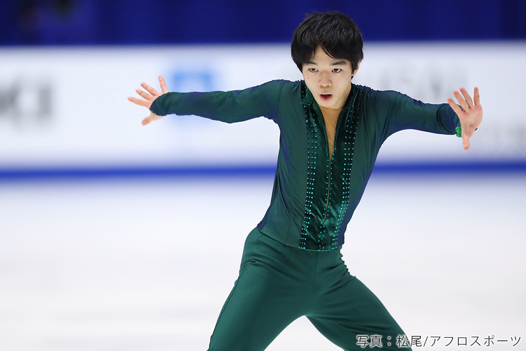 NHK杯2020でフリープログラム「アバター」を披露し優勝したフィギュアスケート男子鍵山優真