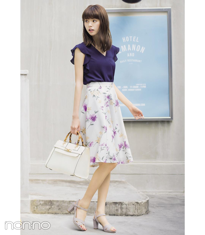 真夏の花柄スカート、モテるコーデはこれ!_1_1-1