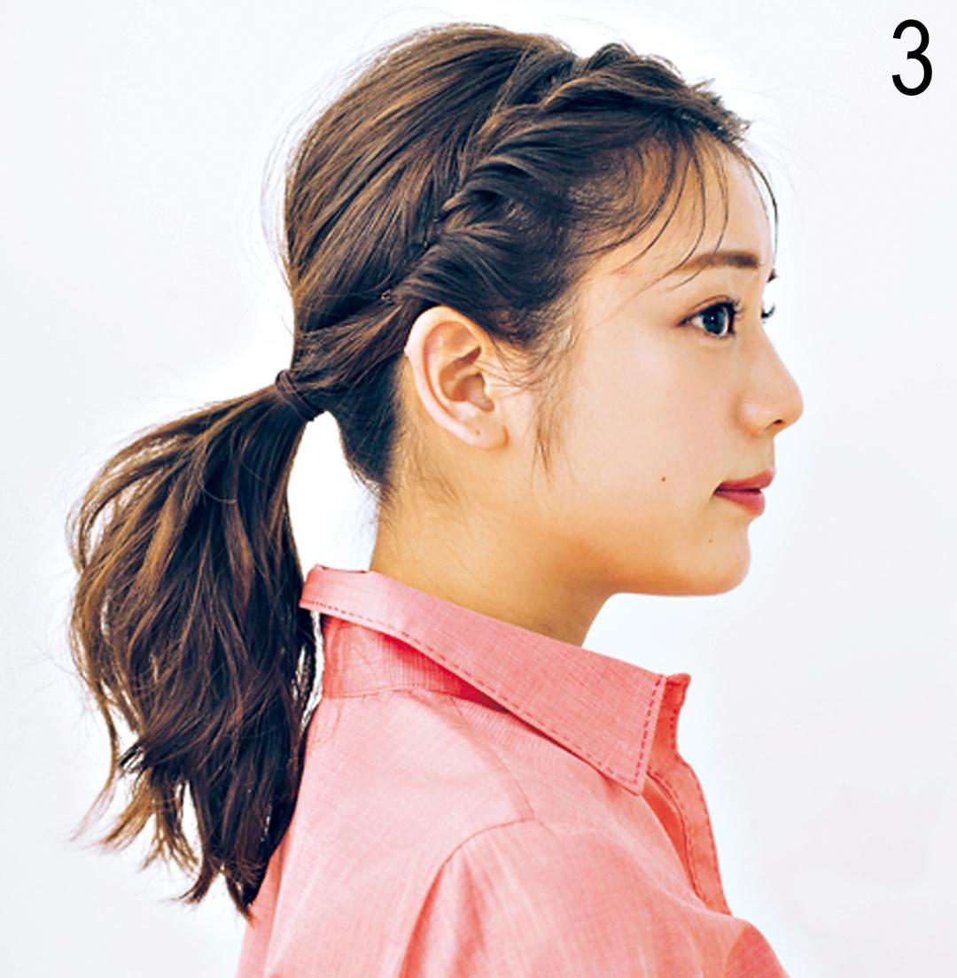飲食バイトのヘアアレンジ★ まとめ髪でも可愛さキープならコレ!_1_3-3