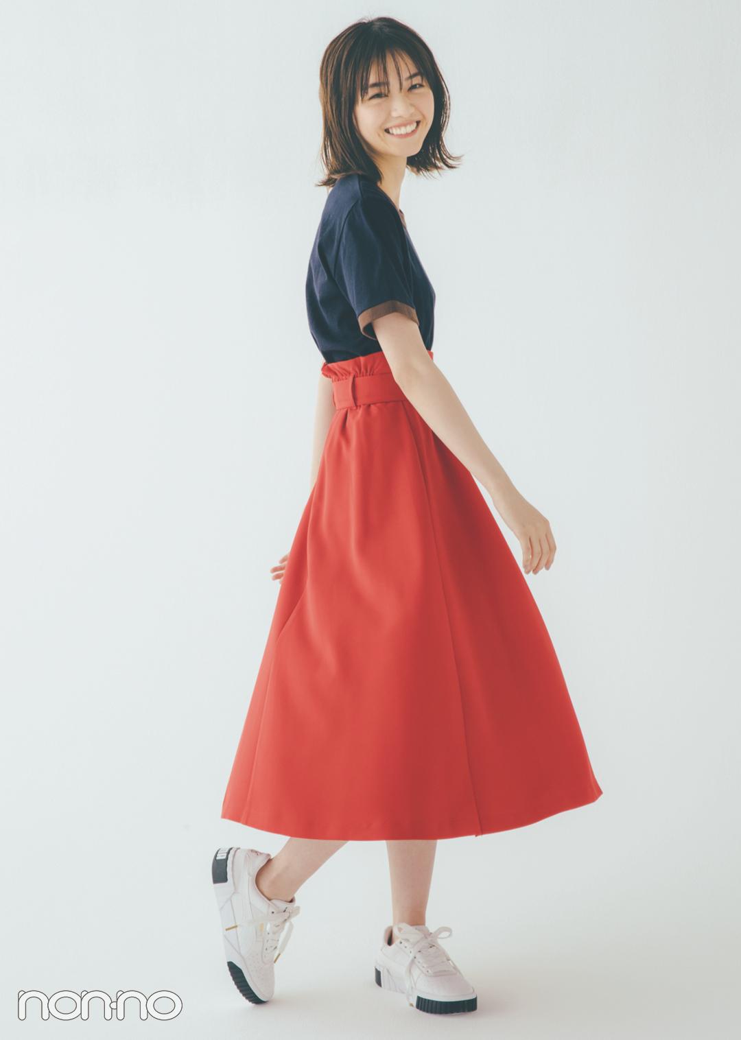 貴島明日香の赤×白×ネイビーがお手本! 好感度&おしゃれ感どっちも♡  _1_3-4