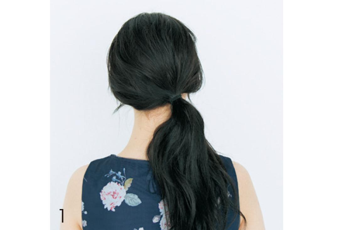 不器用さんでもOK! 輪っかおだんごで黒髪ゆるヘアアレンジ♡ _1_3-1