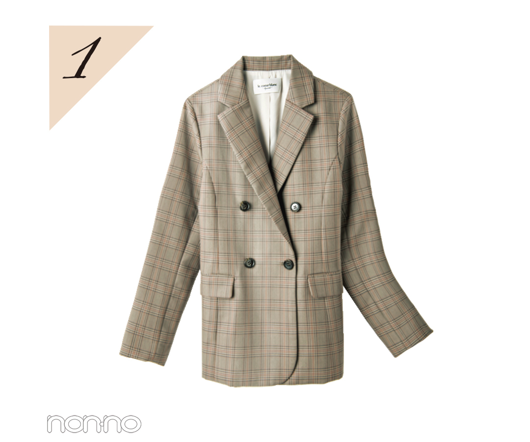 【水曜日】新川優愛はチェックのジャケットでちょい大人コーデ♡ _1_3-1