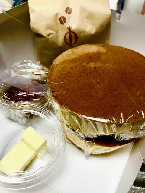 イワタコーヒー店のホットケーキ テイクアウト