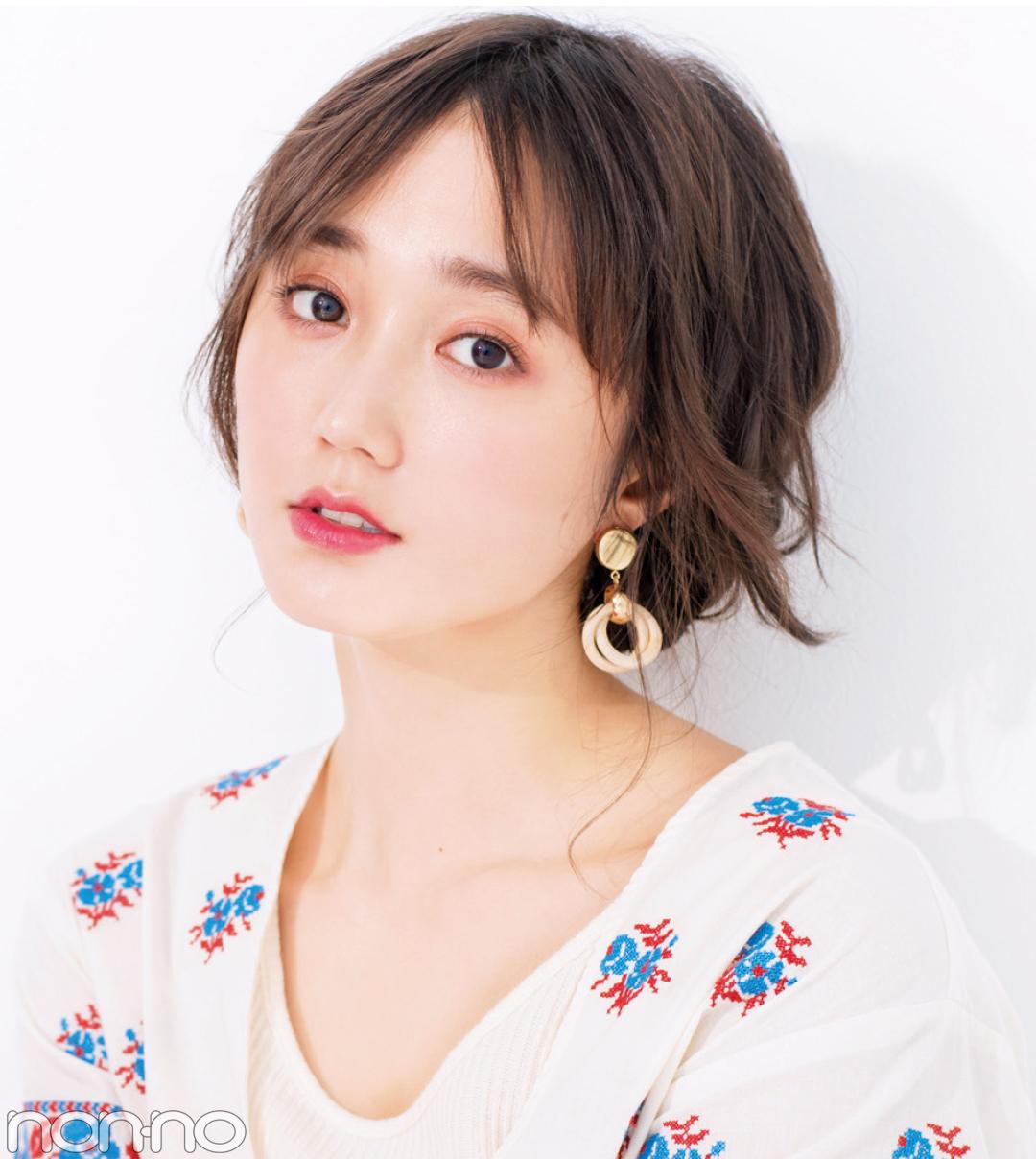 夏の小顔ヘアアレンジ★前髪と触角まわりでひし形を作る!_1_4