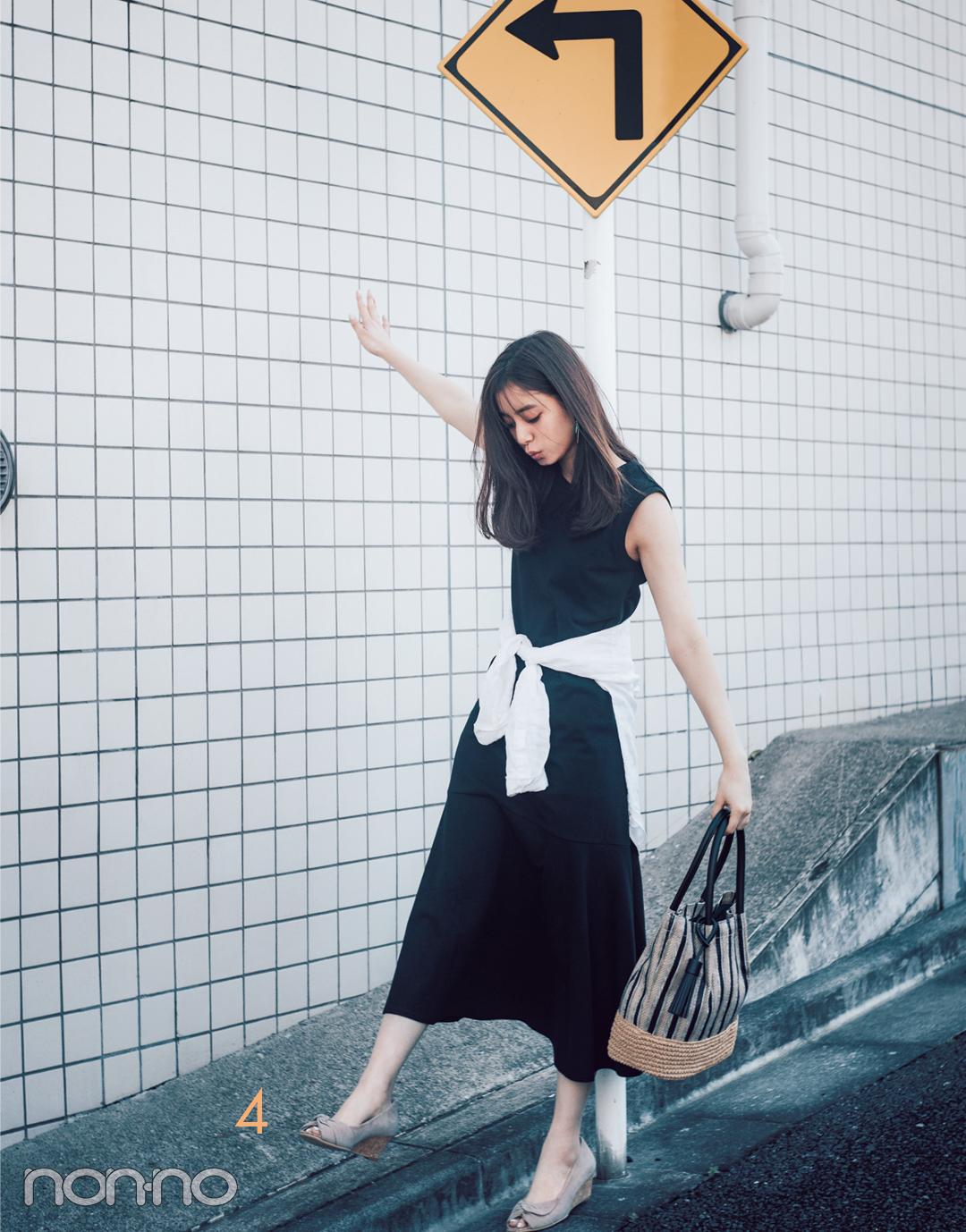 新木優子の白シャツ着回しコーデ7通り★ きれいめもカジュアルもお任せ!_1_3-4