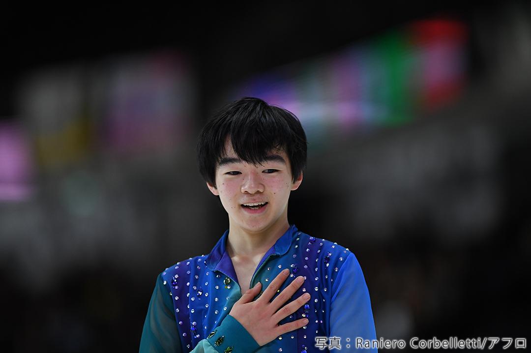 2020年フィギュアスケート世界ジュニア選手権に出場した鍵山優真選手