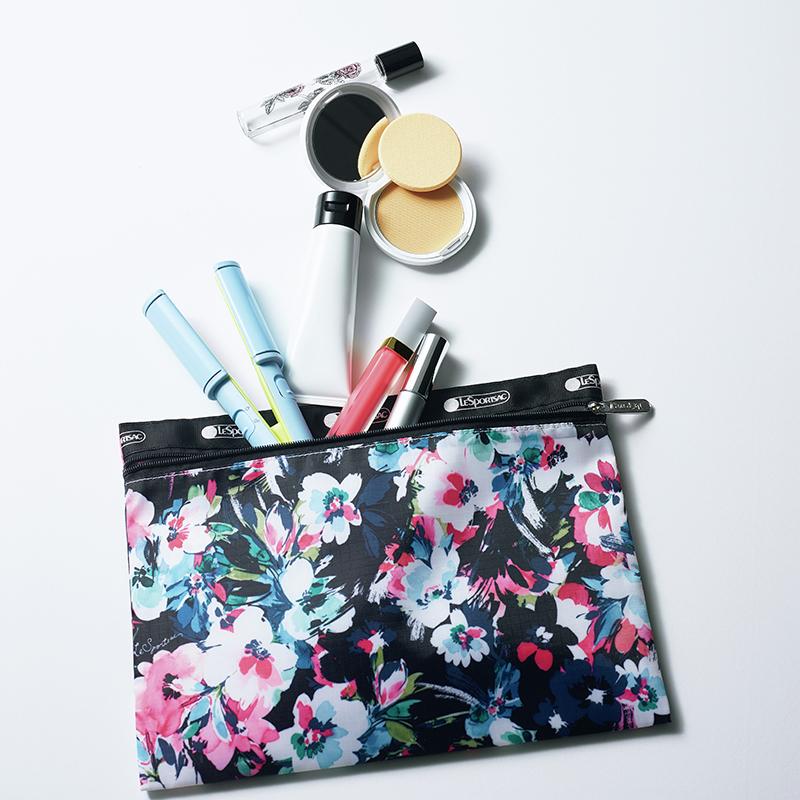 【LeSportsac × eclat】レスポートサックが集英社ファッション誌6誌と再びコラボ!! たっぷり入る華デザインにひと目惚れ「大人の花柄ポーチ」