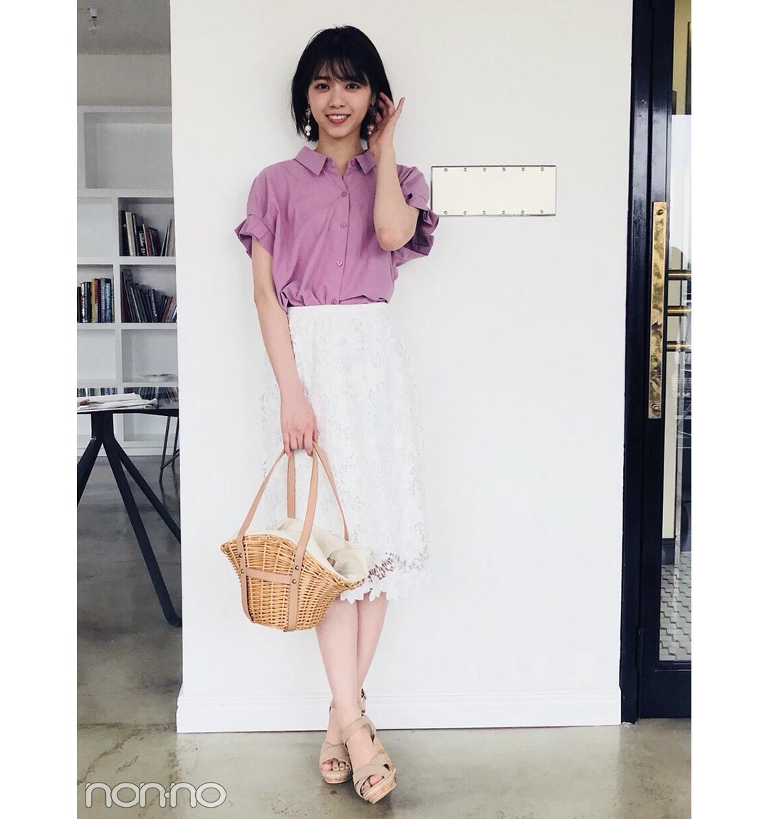 西野七瀬のレースタイトスカートが大人可愛すぎる【毎日コーデ】