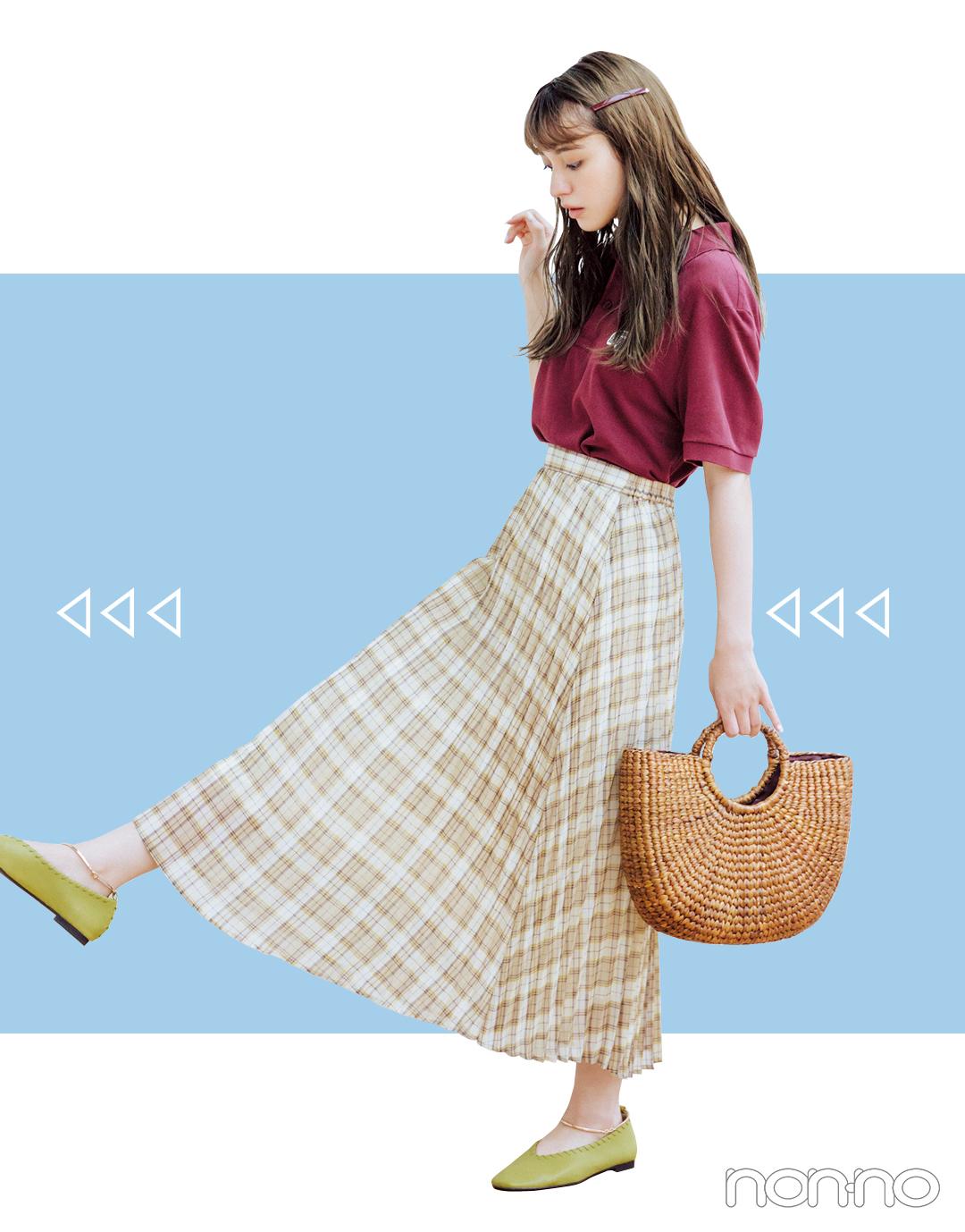 2019秋トレンド★ 今買うプリーツスカート、10月まで着回せるのはコレ!_1_3-2