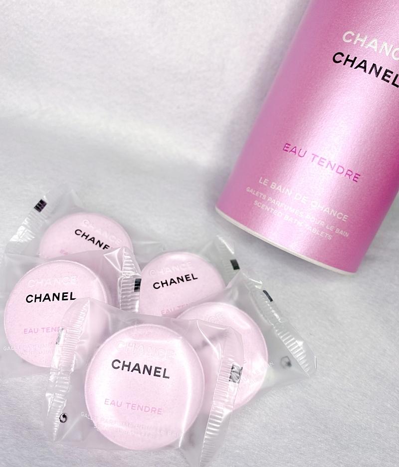 CHANELのチャンスオータンドゥルの限定品のバスタブレットは3/5発売