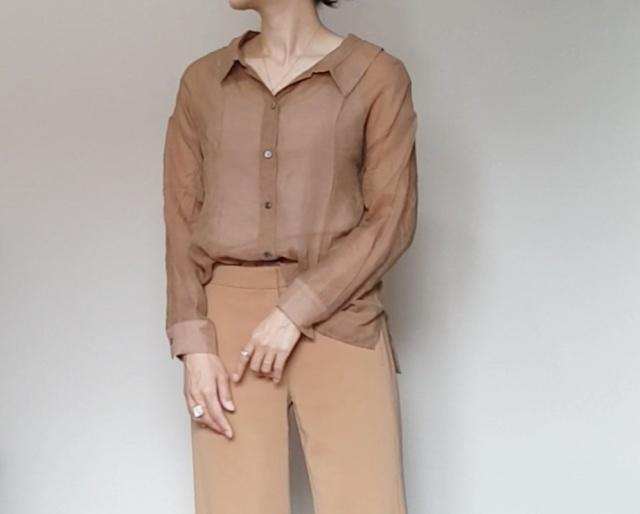 アラフォーが着るシアー素材。私は色で選ぶ!_1_4-2