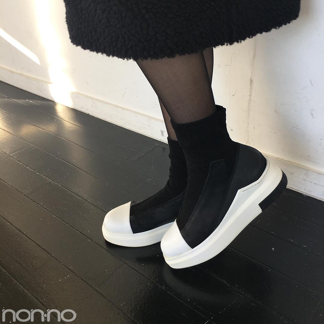新木優子はもこもこワンピを大人コートですっきり見せ!【モデルの私服スナップ】_1_2-3