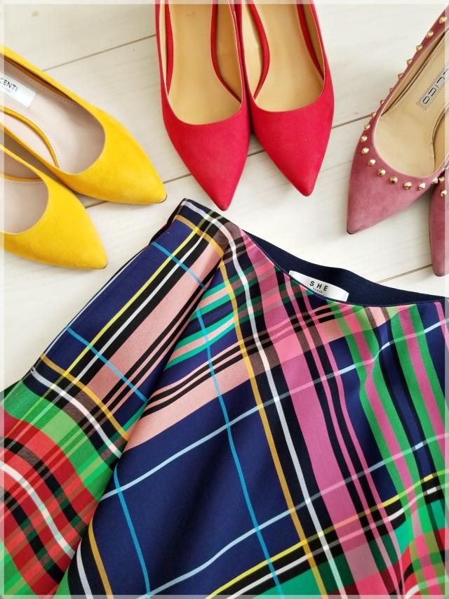 春の「一点投入服」は鮮やかカラーのチェックスカートで♡_1_1