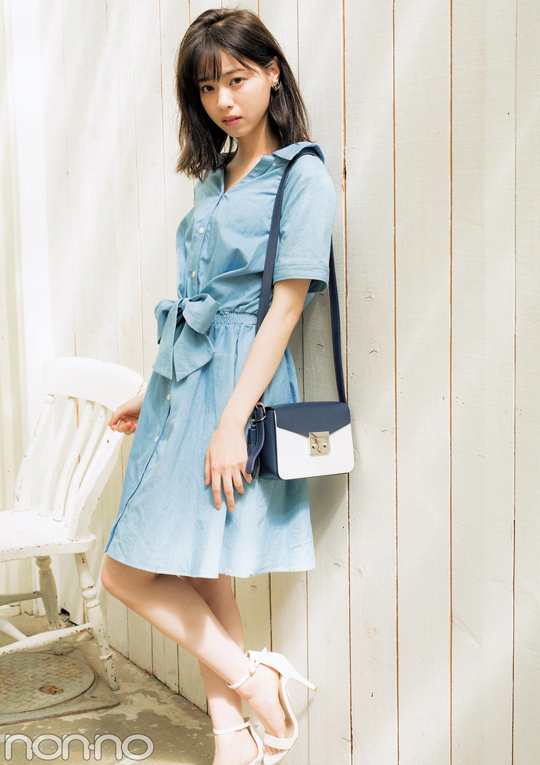 西野七瀬が着る♡ モテたい人のさわやか色ワンピ今夏のBEST3はコレ!_1_3