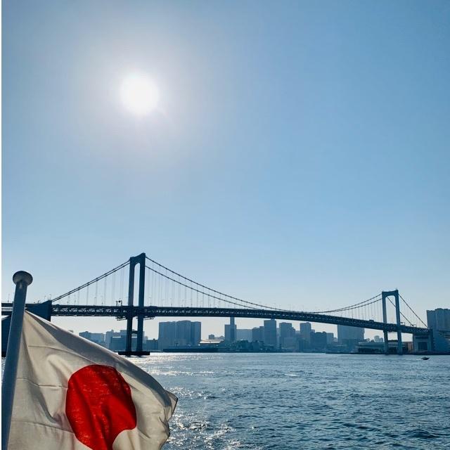 太陽とレインボーブリッジ