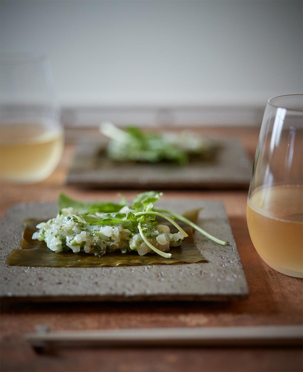 【オーストリア白ワインに合うおつまみレシピ 2】いかとルッコラのなめろう風1